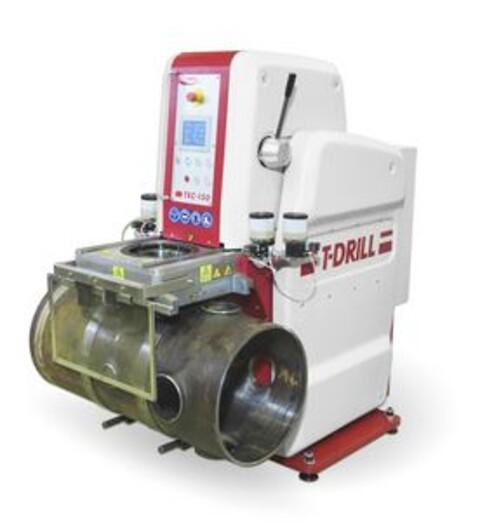 T-DRILL TEC-150-8 HD kraftig røroptrækningsstation.