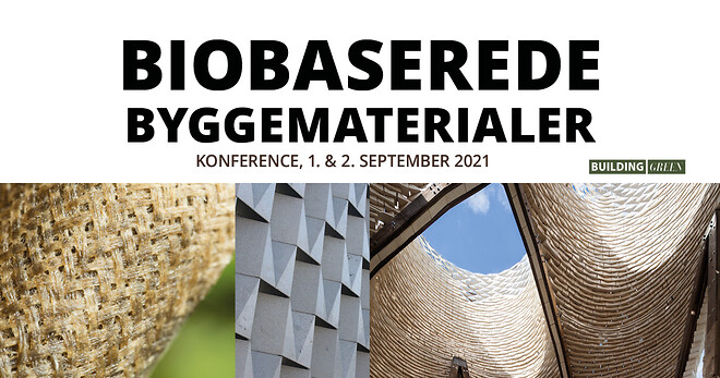 Vær med på den nye konference Biobaserede Byggematerialer. Se programmet nu
