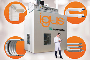New igus cleanroom laboratory, built by the Fraunhofer IPA, for the speedy development of particle-free motion plastics that are suitable for cleanrooms up to Air Cleanliness Class 1, according to ISO 14644-1. (Source: igus GmbH)