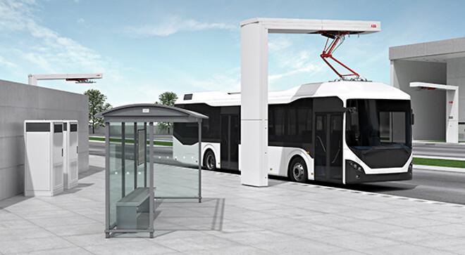 elbusser, ABB, ladestander, hurtigopladning, elkøretøj, ladeløsning