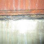 korrosion i en pakning  i  røggasrensesystemets demister unit