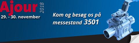 Dansk Ventil Center A/S udstiller på Ajour messen
