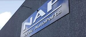 NAP logo på facade