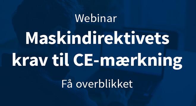 Maskindirektivets krav til CE-mærkning