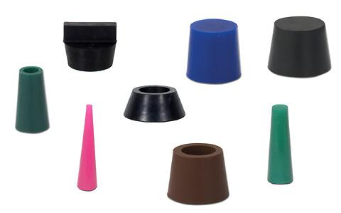 Koniske propper i silikone eller gummi