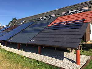 Test af solcelleanlæg på Teknologisk Institut