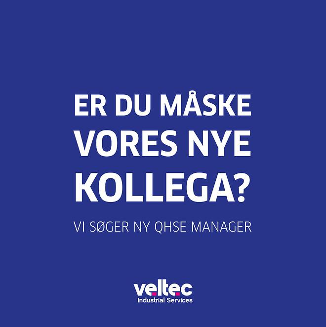 Ny kollega, QHSE manager, Veltec, Kvalitet, sikkerhed, arbejdsmiljø,