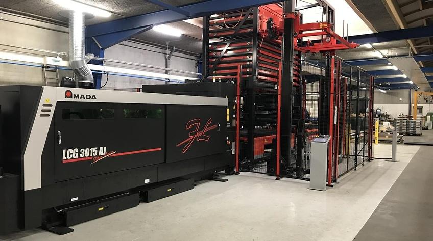Amada-lasere til Øst- og Vestdanmark