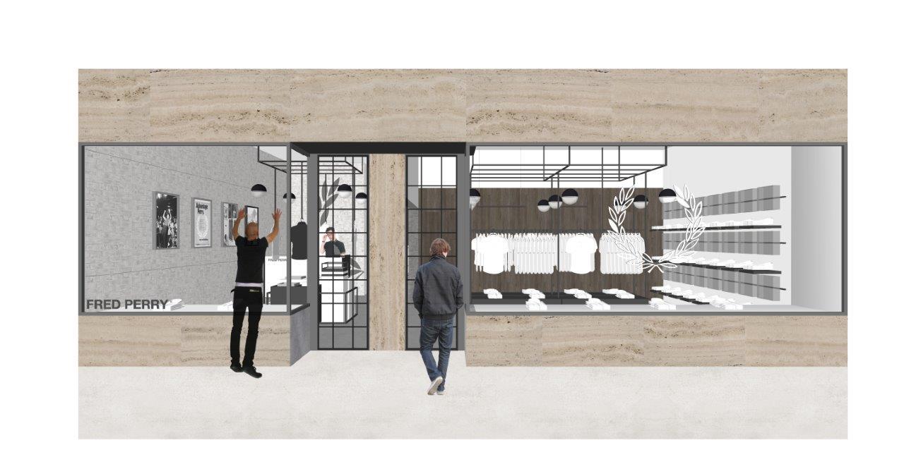 ec51b0edb308 Skissbilder på Fred Perrys nya yta och butikskoncept som återöppnar i ny  skrud den 13 juni på Bondegatan i Stockholm. I veckan nyöppnar Fred Perry  butiken ...