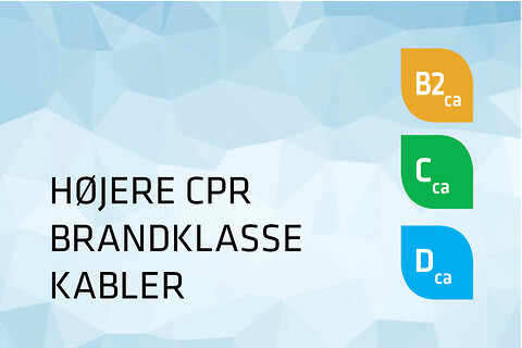 Kabler med højere CPR brandklasse - Prysmian højere CPR klasse kabler