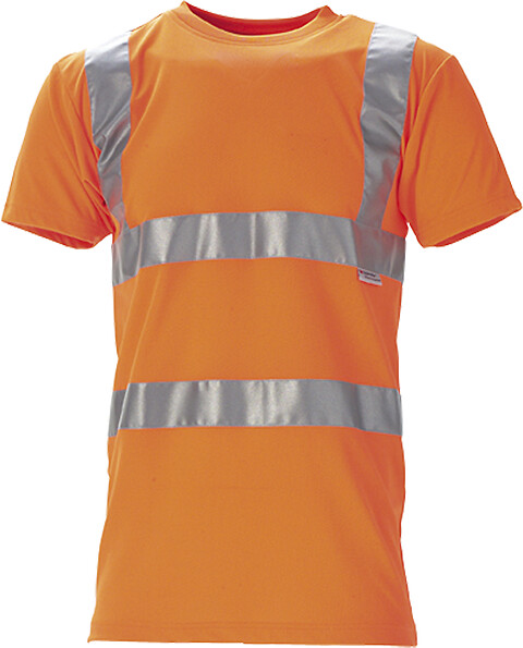 T-shirt en iso 20471 kl. 2, orange - 11114
