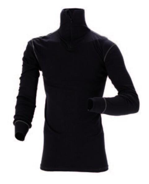Termoundertrøje, høj hals, sort - 6008