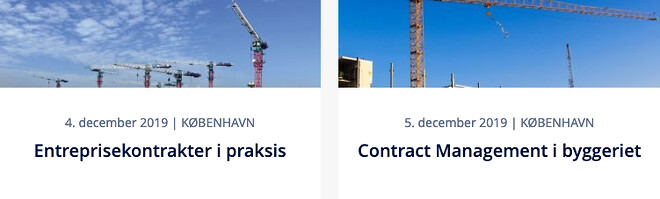 Nohrcon-kurser - Entreprisekontrakter i praksis - Contract Management i byggeriet
