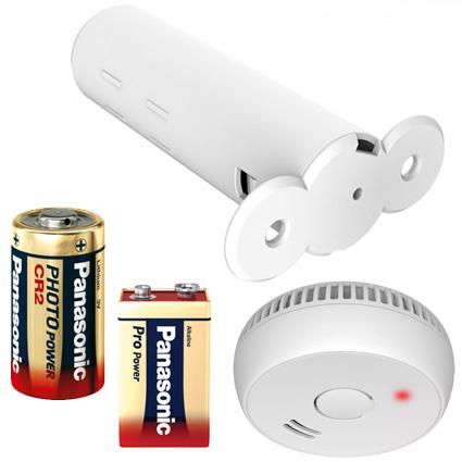 Batterier til låse og røgalarmer