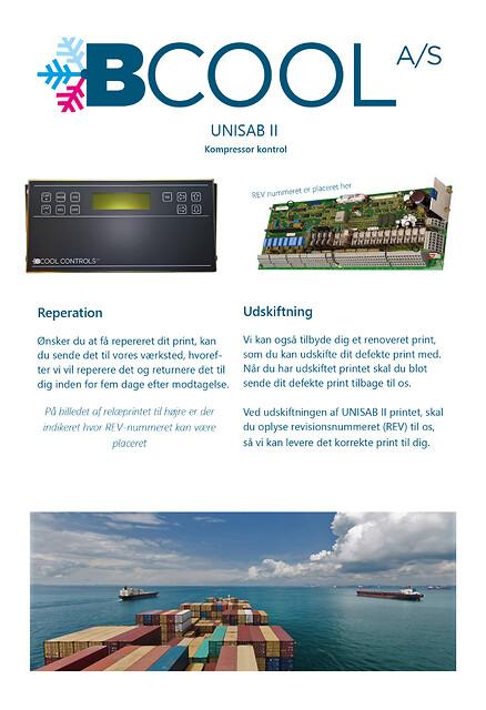 UNISAB II - Kompressor kontrol - BCOOl, reparation, udskiftning, UNISAB, Kompressor kontrol