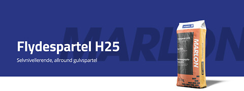 Flydespartel H25 fra Marlon Tørmørtel A/S