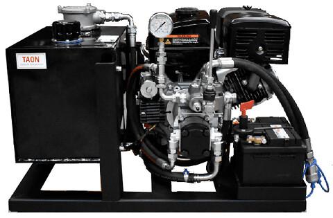 Benzindrevet hydraulikstationer - Bensindrivat pumpstationer