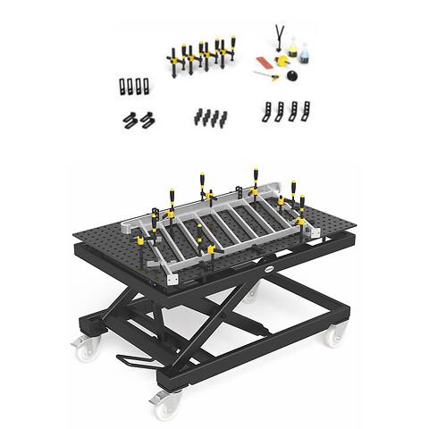 Tilbud sveisebord / løftebord 2x1m, inkl sett 1 tilbehør