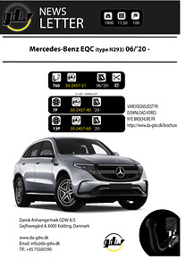 Mercedes EQC  (N293) Dragkrok fron Dansk Anhængertræk GDW