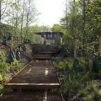 Den nye gangbro i Remiseparken løber gennem 400 svært terræn, fundering med Krinner skruefundamenter gjorde byggeriet meget enklere