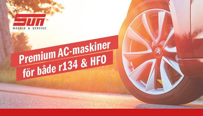 AC-maskiner för alla fordon hos SUN Maskin & Service AB