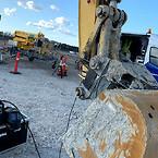 Ved at have en fast base under hele Femern-projektet kan aktører i byggeriet få serviceret og udbedret deres maskiner hurtigt.