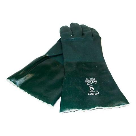 Grøn pvc handske lang