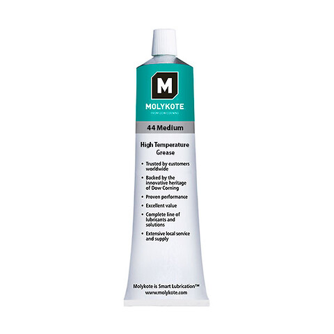 MOLYKOTE 44 Medium smørefedt, Hvid, Tube 100 g