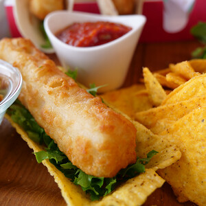 Fishn Chips - Chip Shop roll i taco skal