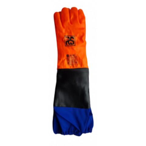 Pcv-dækkede handsker med ærme