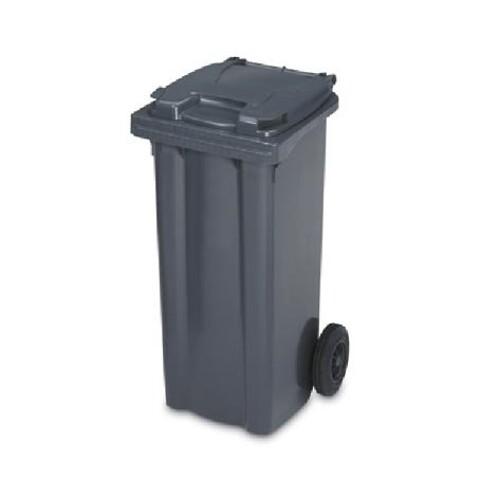 Affaldscontainer 2-hjulede 190 l - antracitgrå