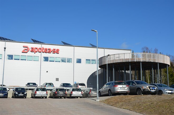 Apotea flyttede sidste år ind i sit klima-smarte logistikcenter i Morgongåva.