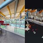 Renovering af Thy Hallen. Matterport til registrering