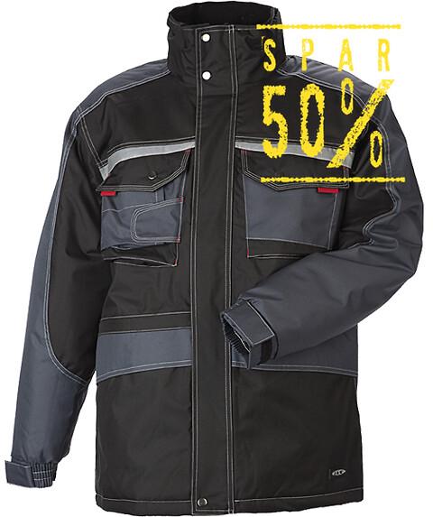 Parka, sort/koksgrå - 9232