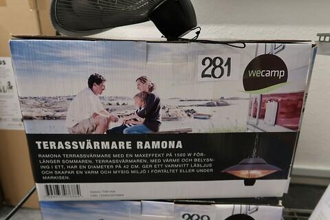 Terrassevarmer wecamp 600-1500W