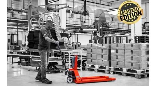 RAVAS 35 års jubilæums model palleløfter med vægt
