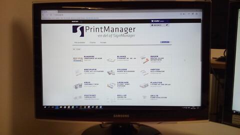 Spar mange penge ved at handle tryksager til kontoret on line. - Brevpapir, visitkort, foldere, blokke, brochure,