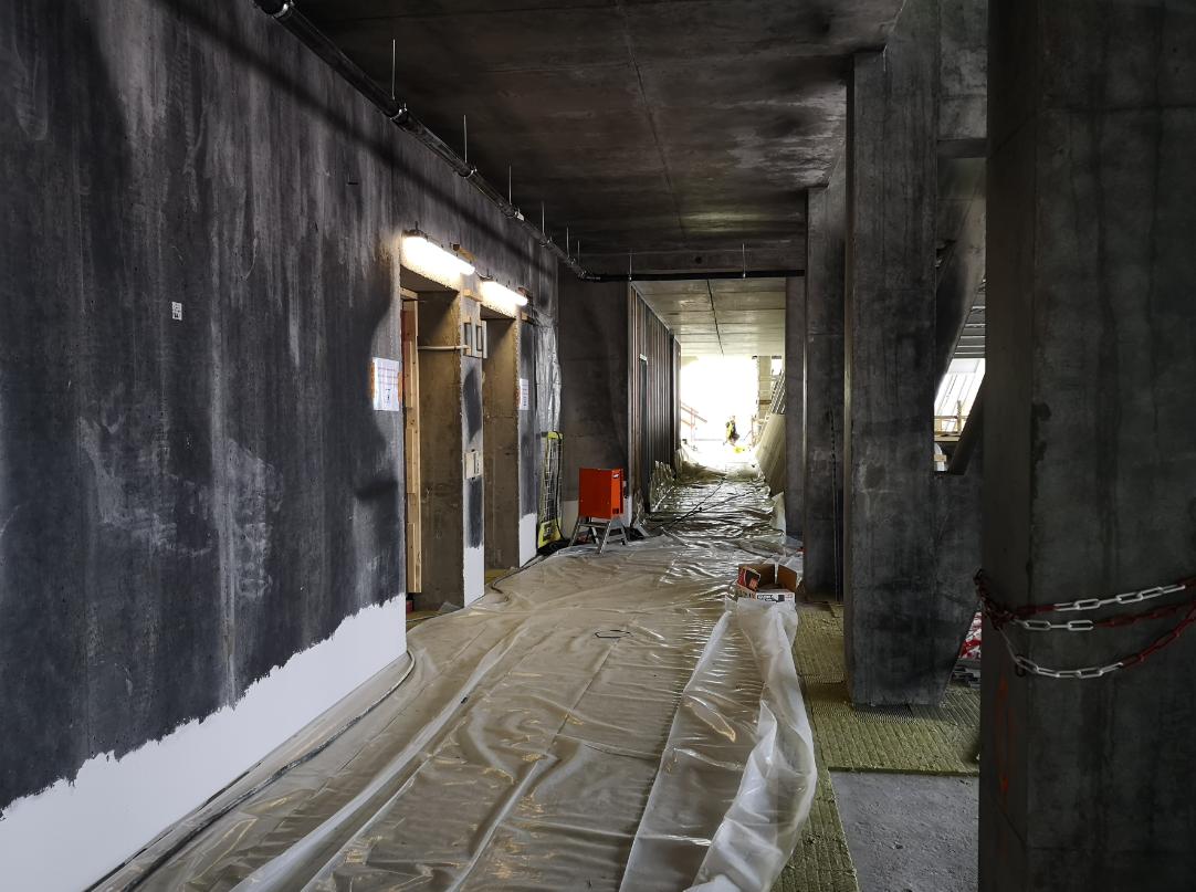 Byggeprosessen har tatt i bruk lavutslippsmateriale i så stor grad som overhodet mulig.