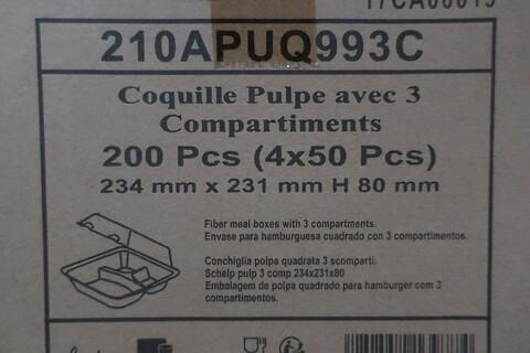 800 stk. 3-rums fiberbakke firstpack 210APUQ993C