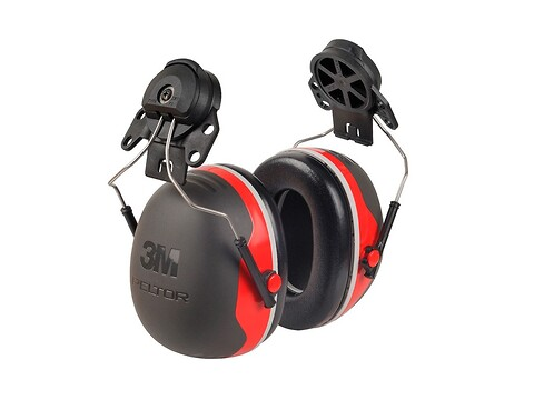 Høreværn peltor X3 - rød f/hjelm - 3M