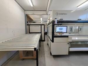 Ceetec DuoFlex spraying machine and multilevel oven
