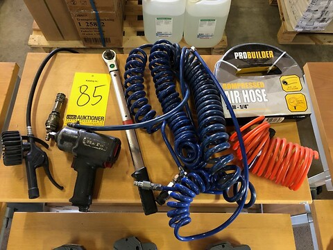 Trykluftværktøj, slanger, luftnøgle og momentnøgle (momsfri)