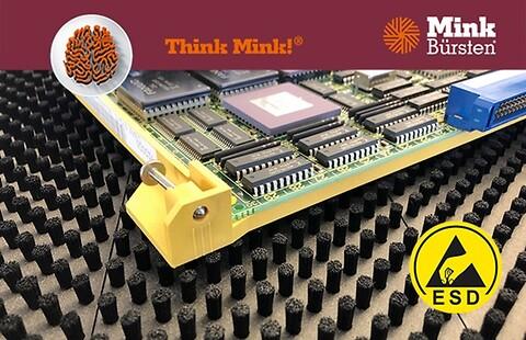 ESD-beskyttelse med Mink børster - ESD - Mink Care System\n