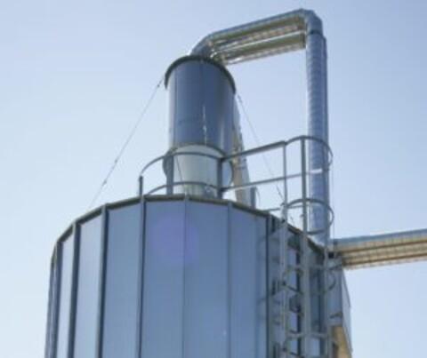 Cykloner - cyklon på silo