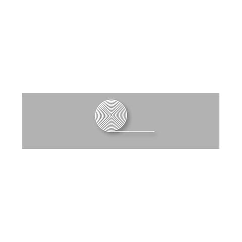 Linje 10cm hvid - rulle á 5 meter