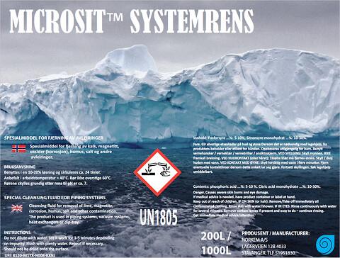 Flushing med Microsit™ Systemrens fra Norkem AS - systemrens,\nfjerne kalk,\navleiringer,\nrørvask,\nflushing,\nindustriell flushing.
