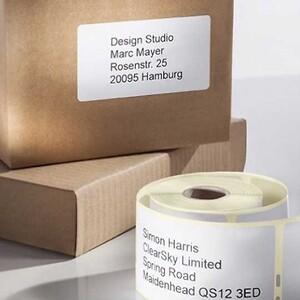 Adressetiketter till Dymo, Seiko, och thermodirect-etikettskrivare - Avery