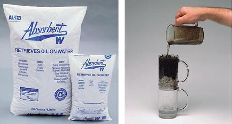 OLIESUG  W Oil Only Granulat - miljørigtigt opsugningsmateriale til oliespild i vandmiljøer