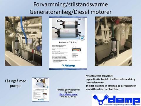 Forvarmning & Stilstandsvarme til generatoranlæg samt dieselmotorer