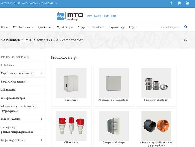 Opret dig som bruger i MTO e-shop